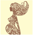 Silhouette pregnant vector image vector image