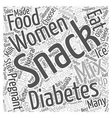 Snack Ideas for Women with Gestational Diabetes vector image vector image