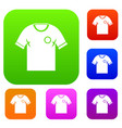 soccer shirt set color collection vector image vector image