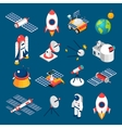 Space Isometric Icons vector image vector image