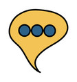 speech bubble message social icon vector image