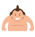 Sumo wrestler japanese icon vector image vector image