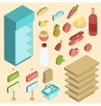 Supermarket Icon Isometric vector image vector image