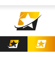 Swoosh Star Logo Icon vector image vector image