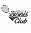 tennis club vector image vector image