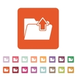 The folder icon Download symbol Flat vector image vector image