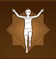 the winner athlete runner runner running vector image