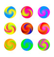 twisted swirl color ball three dimensional set vector image