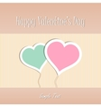 Two Heart shapes background Valentines day vector image vector image