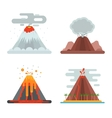 Volcano set vector image vector image