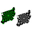 west pomeranian voivodeship administrative vector image vector image