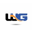 WG initial company group logo vector image vector image
