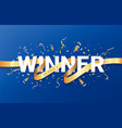 winner celebrating banner vector image vector image