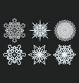 winter snowflakes geometry year icon vector image