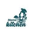 woman cooking logo vector image vector image