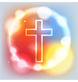 Holy Cross Glowing vector image