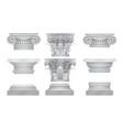 realistic ancient greek roma column vector image