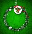 Romantic Green Christmas Border Design vector image