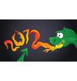 year of dragon - 2012 vector image