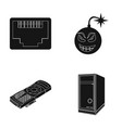 virus system unit and other components personal vector image