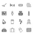 16 hotel icons vector image vector image
