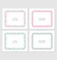 a floral frame collection vector image vector image