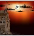 a medieval castle vector image