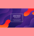 abstract gradient background fluid shapes vector image