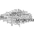 adventures for rent text word cloud concept vector image vector image