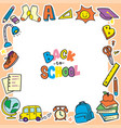 back to school doodle background clip art frame vector image vector image
