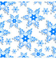 background seamless pattern stylized 3d snowflake vector image vector image
