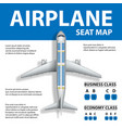 banner poster flyer with airplane seat map vector image