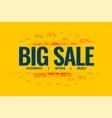big sale special offer banner design template vector image
