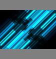 blue bar overlap in dark background vector image vector image