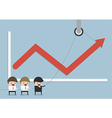 Businessmen find the way to increase business prof vector image vector image