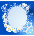 butterfly frame vector image vector image
