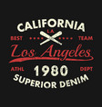 california los angeles vintage athletic clothes vector image