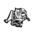 car engine turbo muscle car speedster vector image vector image