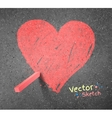 Chalked drawing of heart vector image