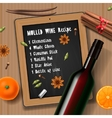 Christmas drink mulled wine vector image vector image