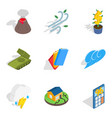 circumstances icons set isometric style vector image vector image