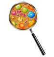 Close up look of germs vector image vector image