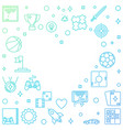 colorful frame with game outline icons vector image vector image