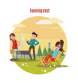 colorful outdoor recreation concept vector image