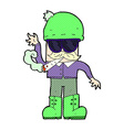 comic cartoon man smoking pot vector image vector image