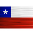 concept chilean flag red white blue and star vector image