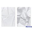 crumpled sheet paper 3d realistic texture vector image