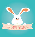 cute rabbit happy easter celebration vector image