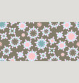 cute seamless pattern round shapes vector image vector image
