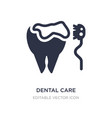 dental care icon on white background simple vector image vector image